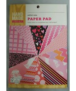 """Hand Made Modern Paper Pads Scrapbook Paper Cardstock Valentines 7"""" X 9 ... - $9.90"""