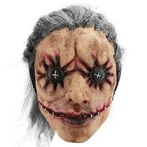Hautton Halloween Mask, Men's Creepy Scary Funny Clown Mask Joker (Butto... - £24.88 GBP