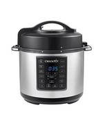 6 Qt 8 in 1 Slow Cooker Crock Pot Pressure Cooking Steamer Stainless Steel - £68.72 GBP