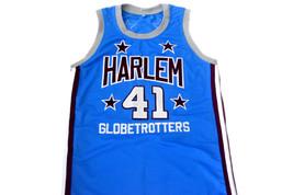 Sweet Lou #41 Harlem Globetrotters Men Basketball Jersey Light Blue Any Size image 1