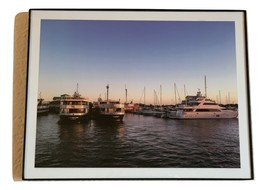 "Boats and Marina Sunset Scene Photograph with Frame 8"" x 10"" - $8.00"