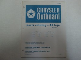 1972 Chrysler Outboard 45 HP Parts Catalog Manual Factory OEM OB 1616 *** - $9.89