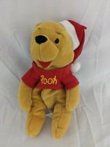 "Disney Winnie the Pooh Santa Hat 7"" Plush Mini Beans Stuffed Animal Toy  - $7.95"