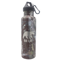 Bear Deer Beer - Laser Engraved 21 oz Camouflage Double Wall Insulated B... - $22.46