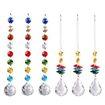 Longsheng Crystal Suncatcher Ornament Hanging Crystal for Windows Rainbow Maker