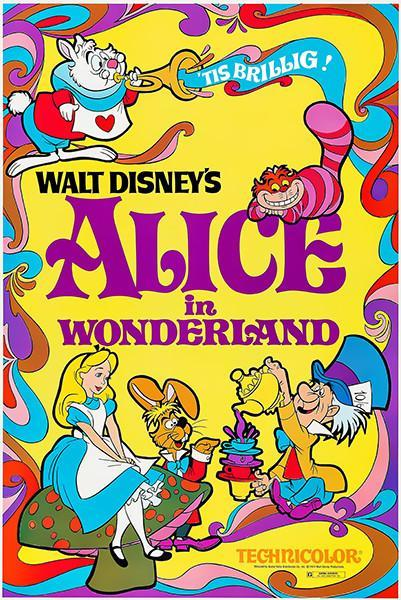 Primary image for Alice In Wonderland - 1951 - Movie Poster