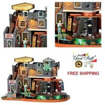 Lemax Spooky Town Building Box-Of-Bones Coffin Factory Halloween Tableto... - $108.78