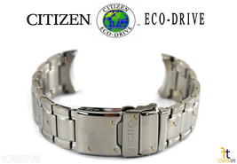 Citizen Eco-Drive S063205 Silver Tone Stainless Steel Watch Band - $111.55