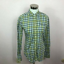 American Eagle Outfitters Classic Prep Fit Plaid Button Down Top Size XS - $4.94