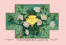 White Rose Soap by Buedingen Box & Label Co. - Art Print - $19.99+
