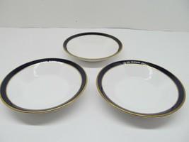 """Spode Consul Cobalt Bone China 5 """" Dessert Sauce Bowls Set Of  3  Bowls GUC - $67.62"""