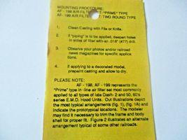 Details West # AF-199 Rrime II Air Filter Set  HO-Scale image 4
