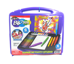 CRA-Z-ART BLOPENS SUPER ACTIVITY STUDIO W/ 6 BLOPENS & 6 STENCILS & STOR... - $14.84