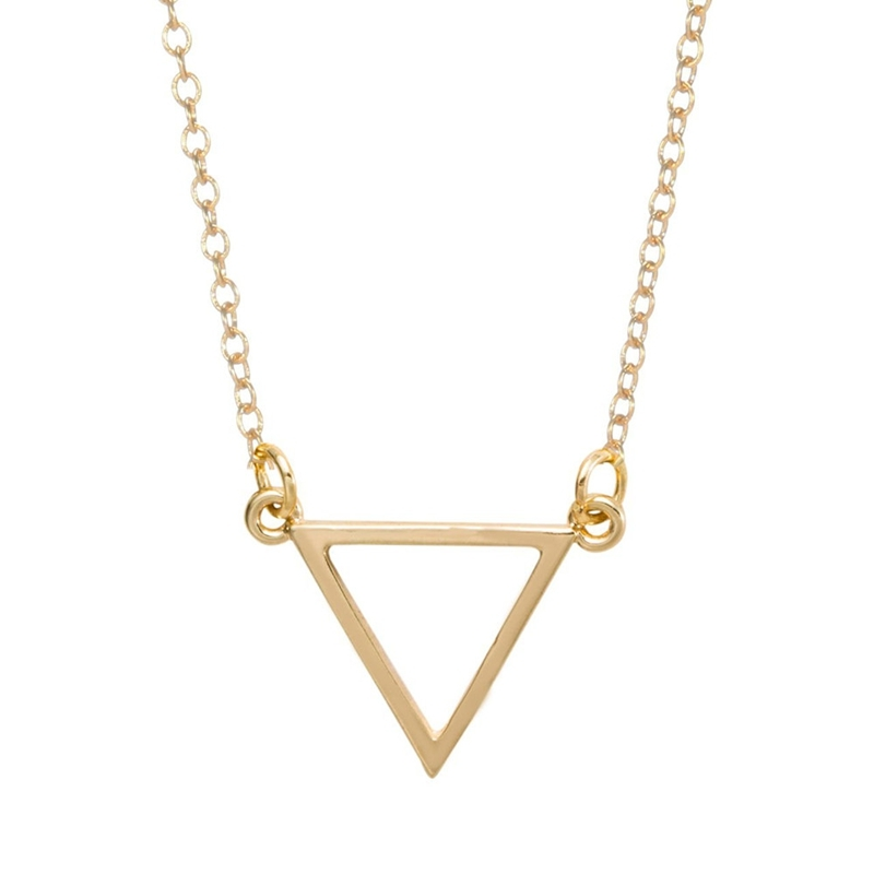 Accessories simple triangle pendant necklace geometric shape necklaces for women fashion jewelry