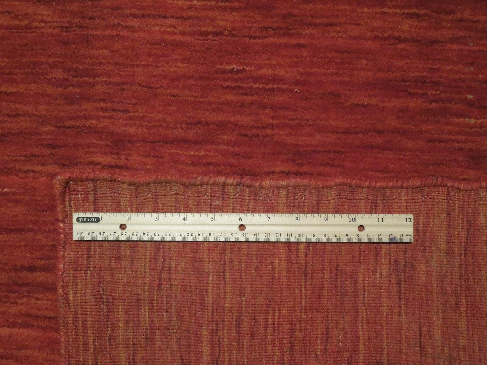 5' x 7' Shades of Red Soft Modern Red Gabbeh Wool Hand-Knotted Rug image 8