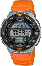 Casio Men's Quartz Resin Strap Orange Casual Stopwatch Watch WS-1100H-4AVCF - $29.69