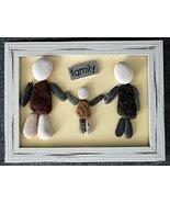 Customized gift   Family Pebble Art   Unique Handmade Gift. Original Hom... - $22.99