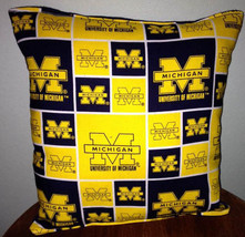 Michigan  University Pillow Football Pillow Pillow NCAA HANDMADE In USA - $9.97
