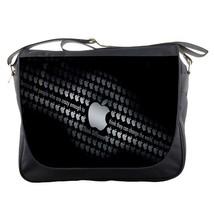 Messenger Bag Apple Logo In Elegant Black Animation Fantasy Game - $30.00