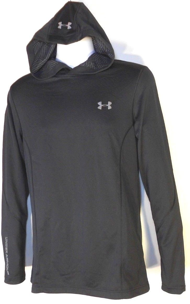 Primary image for UNDER ARMOUR MEN'S BLACK PULLOVER HOODIE Sz M, #1319962-001