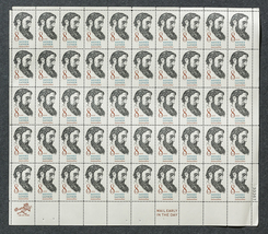 Sidney Lanier, American Poet,  Sheet of 8 cent ... - $7.50
