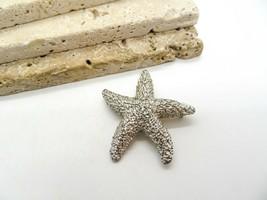 Vintage Signed Crown Trifari Silver Tone Textured Starfish Brooch Pin I40 - $15.99
