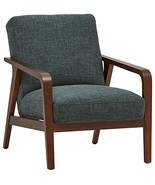 "Rivet Huxley Mid-Century Modern Accent Chair, 28.3""W, Marine Blue - $380.98"
