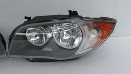 08-11 BMW E82 E88 128i 135i Halogen Headlight Lamps Set L&R image 2