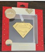 "Hallmark Premium Superman Emblem ""S"" Logo Christmas Ornament GOLD 2019 New - $17.81"