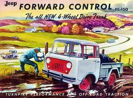 1956 Jeep FC-150 Forward Control 4-Wheel Drive Truck - Promotional Poster - $9.99+