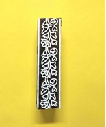 Wooden indian printing block design fabric textile craft making wood sta... - $13.02