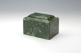 Small/Keepsake Marble Emerald Funeral Cremation Urn, 5 Cubic Inches TSA ... - $69.99