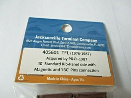 Jacksonville Terminal Company # 405601 TFL (1976-1987 40' Standard Container (N) image 2