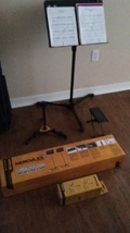 Hercules Mini Acoustic Guitar Stand & EZ Clutch Music Stand COMBO w/Free... - $75.00