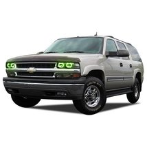 FLASHTECH for Chevrolet Suburban 00-06 Green Single Color LED Halo Ring Headligh - $185.22
