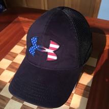 UnderArmor USA Logo Black Mesh Hat Cap - $17.81