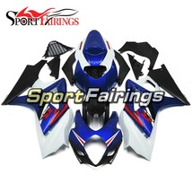 Blue White Injection Fairings For Suzuki GSXR1000 K7 2007 2008 ABS Fittings - $440.93