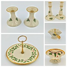Lenox Holiday Holiday Collection Holly & Berry  Nouveau Candlestick Cand... - $125.00