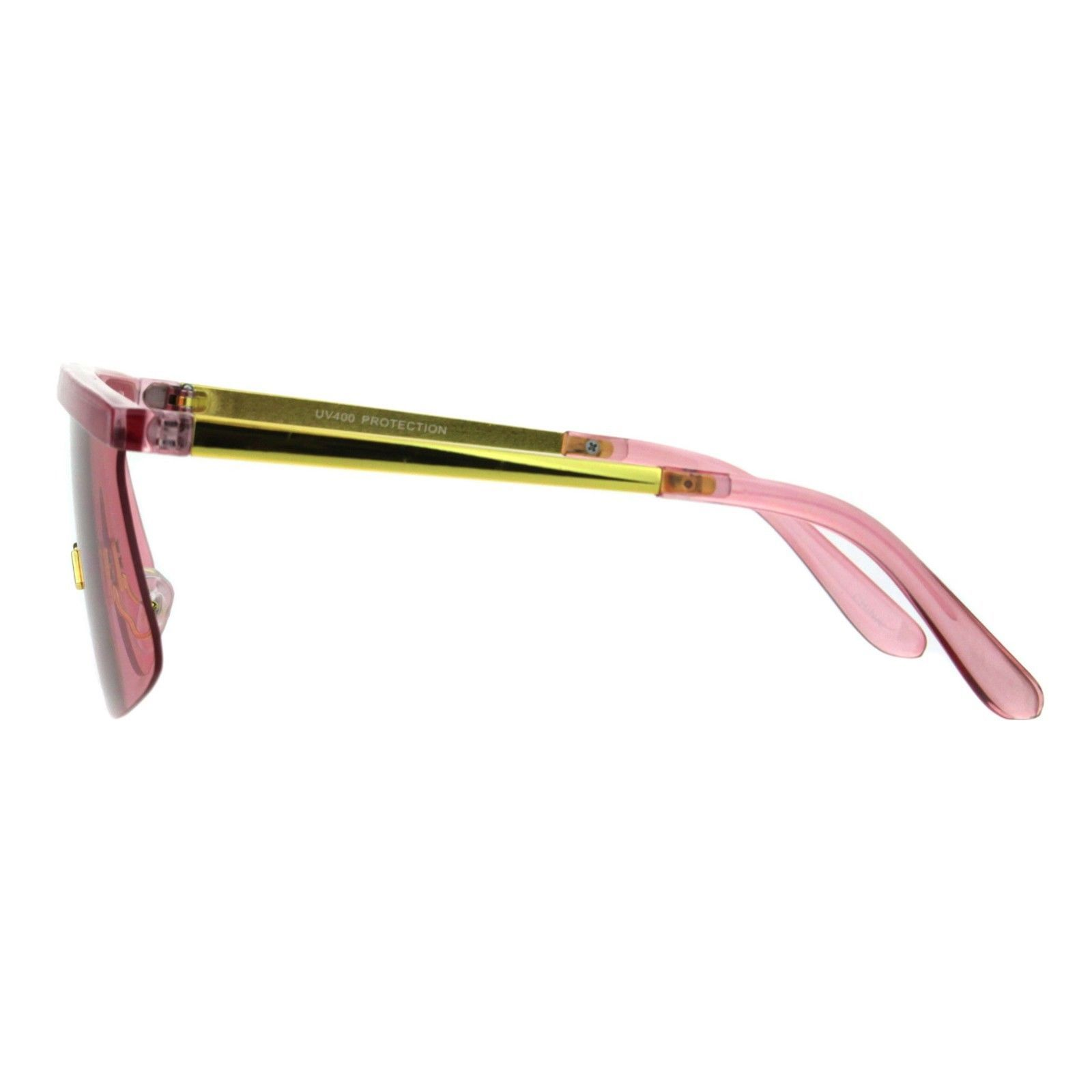 Vintage Goggle Style Sunglasses 80's Fashion Half Rim Shield Shades UV 400