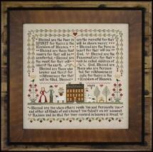 Beatitudes cross stitch chart Little House Needleworks  - $14.40