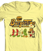 Burger Time T-shirt arcade video game 80 100% cotton yellow graphic tee image 2