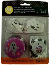 Ghost Halloween Cupcake Combo Kit Makes 12 Liners Picks Ghosts Wilton - $7.51