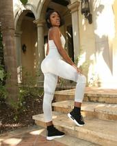Loruna Seamless Legging With Cutouts and Stripes - Grey - $32.00