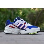 NEW IN BOX ADIDAS YUNG 96 SNEAKER DAD SHOES COLLEGIATE ROYAL RED WHITE s... - $59.38
