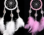 Wall hanging decoration dream catcher circular with feathers dreamcatcher thumb155 crop