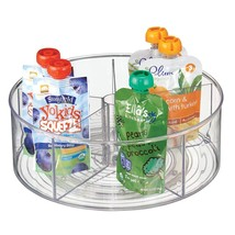 mDesign Divided Lazy Susan Turntable Storage Container for Kitchen Cabin... - €20,66 EUR