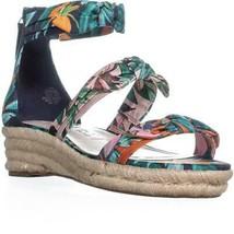Nine West Allegro Bow Espadrilles Sandals, Navy Multi - $33.99
