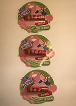 LIP BALM LOT 3pc Set DUBBLE BUBBLE Grab Bag/Halloween Giveaway Apple NEW! - $9.99
