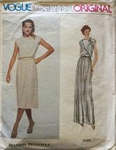 Vogue 2129  Misses' Designer Original Dresses b... - $19.99