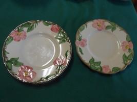 "Vintage FRANCISCAN ""Desert Rose"" Two BREAD/SALAD/DESSERT Plates & FREE P... - $6.64"